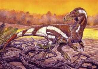 Ilustração de como deve ter sido o Aratasaurus museunacionali (Divulgação/Museu Nacional)