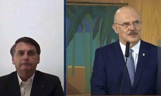 Bolsonaro participou por videoconferência (Foto: Reprodução/TV Brasil)
