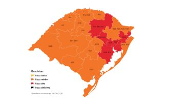 Seis regiões do estado permaneceram com a bandeira vermelha (Imagem: Divulgação)