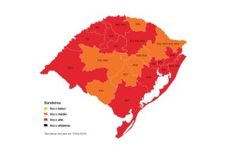14 regiões do estado foram classificadas como de alto risco (Imagem: captura de tela)