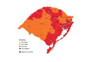 13 regiões do estado foram consideradas como de alto risco (Imagem: Divulgação)