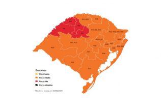 Apenas quatro regiões do estado estão em bandeira vermelha (Imagem: Divulgação)