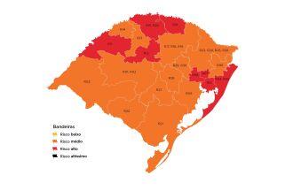 Oito regiões do estado ficaram na bandeira vermelha (Imagem: Divulgação)
