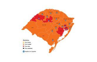 Cinco regiões foram classificadas com alto risco (Imagem: Divulgação)