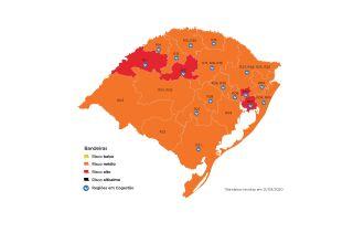 No estado quatro regiões estão em bandeira vermelha (Imagem: Divulgação)