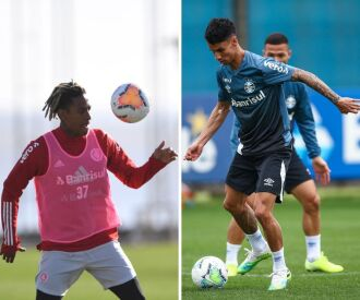 Inter tem time definido e não divulgado. No Grêmio, silêncio sobre os lesionados (Fotos: Divulgação)
