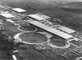 Vista aérea do Parque em 1971