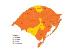 Três regiões do estado estão em bandeira amarela (Imagem: Divulgação)