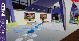 Os participantes poderão circular entre os estandes no ambiente virtual (Imagem: Divulgação)