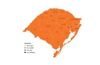 A última vez que o mapa ficou completamente laranja foi na vigência da 21ª rodada (Imagem: Divulgação)