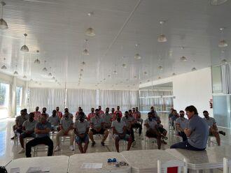 Atletas foram apresentados no salão de eventos - Foto - Divulgação-ECPF