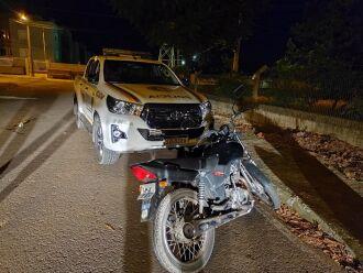 Motocicleta foi recolhida(Foto: Divulgação/Brigda Militar)