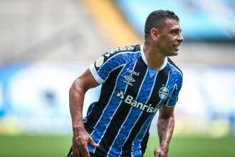 O camisa 29, Diego Souza, marcou duas vezes na goleada tricolor. Foto: Lucas Uebel | Grêmio FBPA