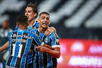 Diego Souza marcou o gol gremista --- Foto – Lucas Uebel - GFBPA