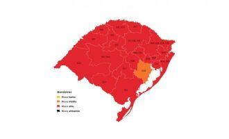 Apenas a região de Guaíba foi classificada em bandeira laranja (Imagem: Divulgação)