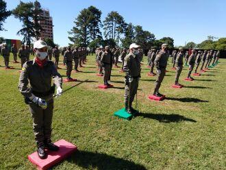 O Curso Básico de Formação Policial Militar de 2020, deve marcar o ingresso efetivo de 860 soldados na tropa – 685 homens e 175 mulheres em todo o RS (Foto: Luciano Breitkretz/ON)