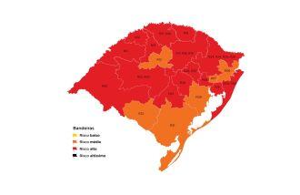 15 regiões Covid estão em bandeira vermelha (Imagem: Divulgação)