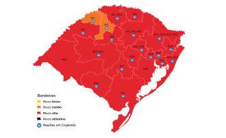 Apenas Ijuí e Santa Rosa ficaram na bandeira laranja (Imagem: Divulgação)