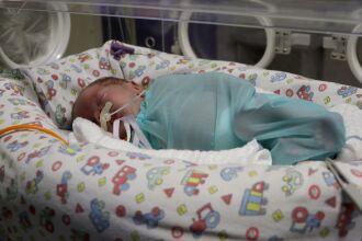Mariana foi o primeiro bebê a nascer no HSVP em 2021 (Fotos: Assessoria de Imprensa HSVP/Scheila Zang)