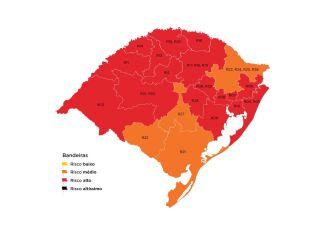 Quatro regiões do estado estão com bandeira laranja (Imagem: Divulgação)