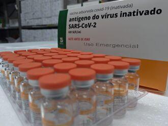 Esses 5,4 mil litros serão suficientes para produzir em torno de 8,6 milhões de doses da vacina (Foto: Mauro Nascimento / Palácio Piratini)