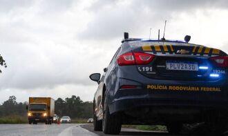Segundo a Polícia Rodoviária Federal (PRF), apesar da ameaça de greve, trânsito fluiu normalmente nas principais estradas federais do país (Foto: PRF)