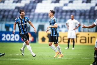 Pepê marcou o terceiro gol gremista - Foto – Lucas Uebel-GFBPA