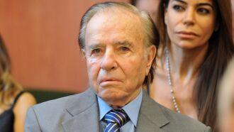 Há meses, Carlos Menem enfrentava problemas de saúde -Foto - Telam