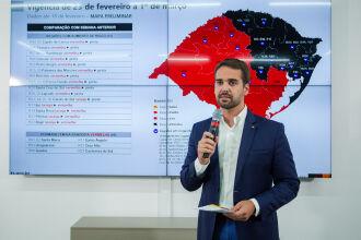 Governador durante live nesta sexta-feira (Foto: Felipe Dalla Valle / Palácio Piratini)