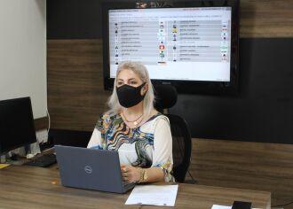 A Sessão foi coordenada pela vice-presidente do Legislativo, vereadora Janaína Portella (MDB) (Foto: Comunicação/CMPF)