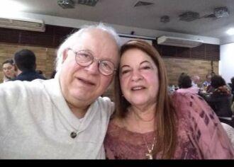 Cléa com o marido Édison Nunes, falecido ontem