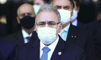 Ministro realizou coletiva de imprensa para divulgar ações de combate à pandemia (Foto: Marcelo Camargo/Agência Brasil)
