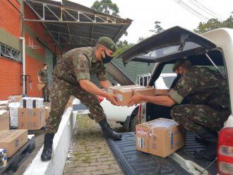 Militares entregarão medicamentos para 70 hospitais de 58 municípios gaúchos (Foto: Divulgação Exército Brasileiro)