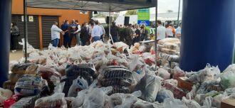 A campanha já arrecadou mais de 35 toneladas de alimentos (Foto: Gerson Costa Lopes/ON)