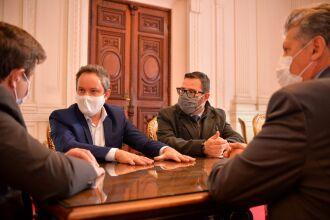 Pedro Almeida cumpriu agenda de reuniões com deputados estaduais (Foto: Leonardo Rosa/Divulgação)