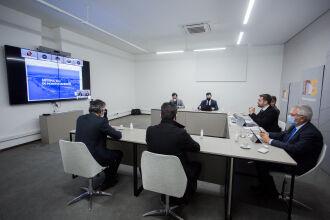 Eduardo Leite, em vídeo, chamou a atenção para o número de regiões em Alerta (Foto: Felipe Dalla Valle/Arquivo Palácio Piratini)