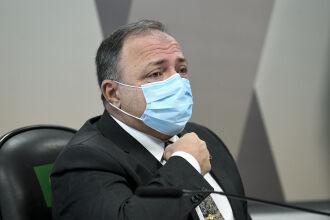 Pazuello também comentou sobre o episódio em que andou sem máscara em shopping (Foto: Jefferson Rudy/Agência Senado)