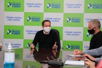 Reunião na Prefeitura tratou das ações de fiscalização (Foto: Michel Sanderi/PMPF)