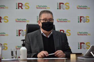 Vice-governador do Estado, Ranolfo Vieira Júnio, conduziu a reunião do Gabinete de Crise (Foto: Rodrigo Ziebell/Ascom)