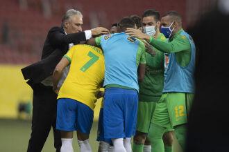 Comemoração: gol de Richarlison - Foto-Lucas Figueiredo-CBF