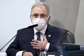 Queiroga ainda falou sobre vacinas e terceira onda (Foto: Jefferson Rudy/Agência Senado)
