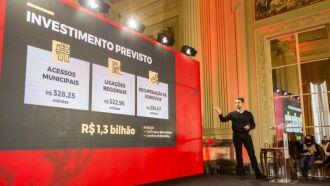 Plano engloba 28 acessos, 20 ligações regionais, 39 projetos, além de conservação e recuperação de rodovias (Foto: Gustavo Mansur/Palácio Piratini)