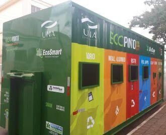 O contêiner possui locais para destinação de diferentes resíduos (Foto: Arquivo/ON)