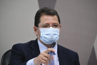 Marcellus Campêlo prestou depoimento hoje na CPI da Pandemia (Foto: Edilson Rodrigues/Agência Senado)