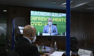 O ministro fez o anúncio durante audiência pública da Comissão Temporária da Covid-19 (Foto: Roque de Sá/Agência Senado)