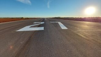 O aeroporto está fechado para obras na pista desde 11 de janeiro (Foto: Arquivo/Divulgação)