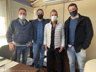 Da esquerda para a direita: Leonardo Gehlen, Giezi Schneider, Cristiano Basso e Fernando Langaro
