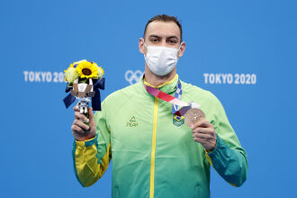 Scheffer garantiu a primeira medalha da Natação do Brasil nesta edição (Foto: Satiro Sodré/SSPress/CBDA)
