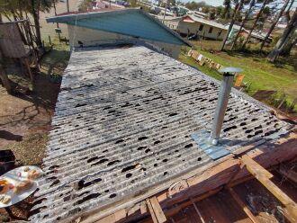 Em Getúlio Vargas, cerca de 300 residências foram atingidas (Foto: Vicente Tozatti Braga/Defesa Civil)