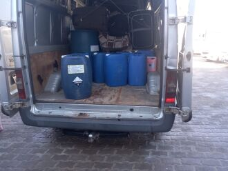 Veículo levava 70kg de peixes nativos capturados (Foto: Divulgação/BABM)